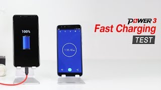 Ulefone Power3's 5V/3A Fast Charging Test - Get Fully Charged in 96 mins