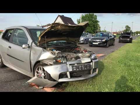 Wideo1: Zderzenie aut w Elżbietkowie