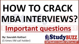 How to crack MBA interviews? Tips, important questions & answers