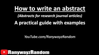 How To Write An Abstract In 5 Minutes? A Practical Guide With Examples!