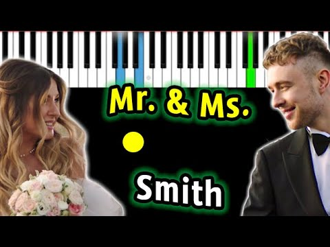 Егор Крид - Mr. & Mrs. Smith (feat. Nyusha)  | Piano_Tutorial | Разбор | КАРАОКЕ | НОТЫ + MIDI