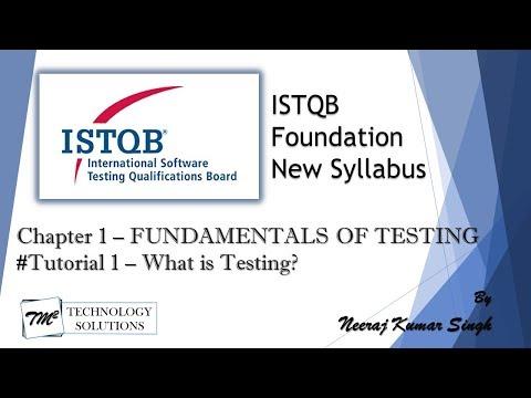 ISTQB Foundation Level 2018   1.1 What is testing?   ISTQB ...