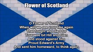 Scottish National Anthem (Flower of Scotland) - Nightcore Style With Lyrics
