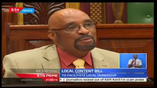 KTN Prime: Public and Private sector discuss issues on Senator Gideon Moi's local content bill