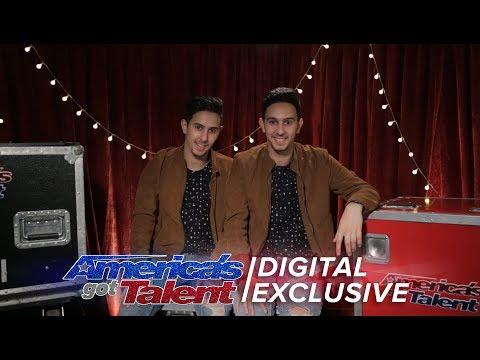 A Peek Behind the Magic with Twin Magicians Tony and Jordan  - America's Got Talent 2017