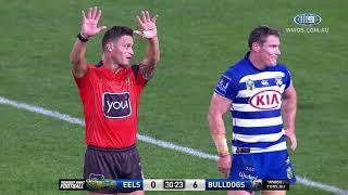 NRL Highlights: Parramatta Eels V Canterbury Bulldogs - Round 19