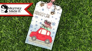 Stamped Christmas Gift Tag!