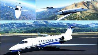 NEW 4K Microsoft Flight Simulator Premium Deluxe | Cessna Citation Longitude | to Telluride KTEX