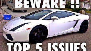 Top 5 Lamborghini Gallardo Failures  -  Problems