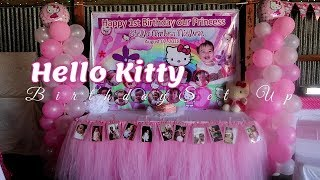 Hello Kitty Birthday Decor Ideas And Tulle Table Skirting