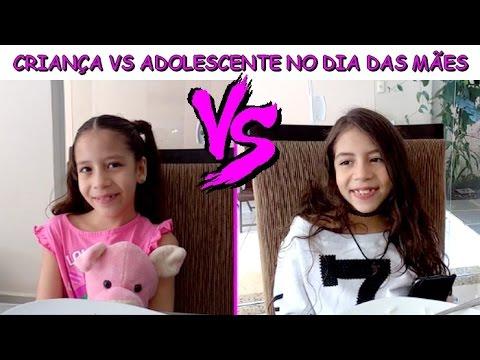 CRIANÇA VS ADOLESCENTE NO DIA DAS MÃES - YouTube ▶13:46