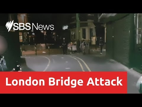 Footage from the final moments of the London Bridge attack has been released