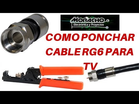 Como Instalar Conector Coaxial / Ponchar Cable RG6 - Tutorial -