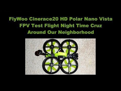 Flywoo Cinerace20 HD with Gemfan D51 Props - Night Time Cruz Flight Around Neighborhood