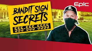Why Bandit Signs For Real Estate Are So Effective | Guerrilla Marketing Tips For Lead Generation