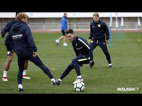 Juanpi se integra en el entrenamiento del Málaga