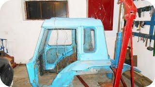 Восстановление трактора МТЗ. Снятие кабины.