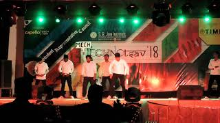 Best dance by mech boys,gag show college dance at S.B.JAIN nagpur