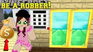 Minecraft: WE BECOME ROBBERS!! - ROBBERY TRAINING SCHOOL - Modded Map