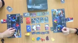 Настольная игра Ганимед. Игровая партия (2 игрока)