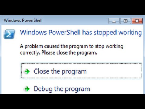 Fix PowerShell Has Stopped Working problem (Poweliks Virus Removal