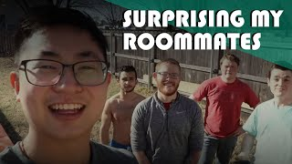 Surprising My Roommates For The Backyard Bowling Lane (Challenge | Punishment)
