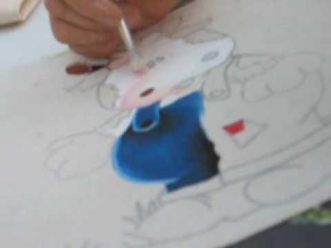 Delantal de vaquita - Pintura en Tela
