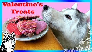 VALENTINE'S DOG TREATS DIY | Marble Hearts 💘 | Snow Dogs Snacks 65 | DIY Dog Treats