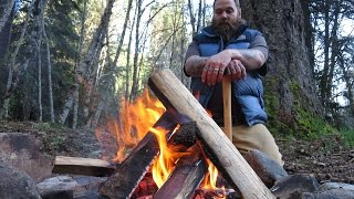 The One Match Fire - Building A Basic Campfire
