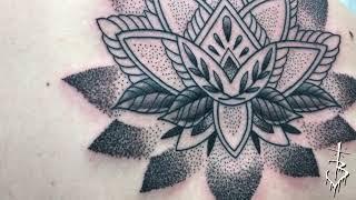 Miami Tattoo Bam Bam Lotus Dotwork On Spine Tattoo Video