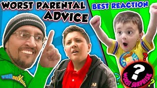 SILLY PARENTAL ADVICE!! + BEST REACTION 4 LAME SURPRISE GIFT!! FUNnel V Fam Wall Decals Vlog &