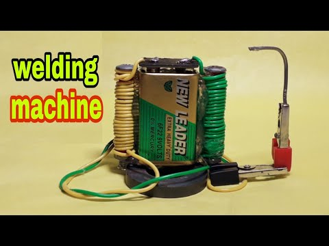 How to make a welding machine 9v Battery| at home – DIY Electronic