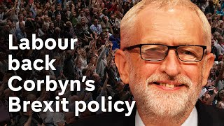 Labour conference backs Corbyn in crunch vote on Brexit policy