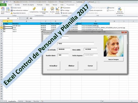 Excel Tutorial 2017, # 1 | Sistema de Control de Personal, Asistencia y Planilla vba 2017