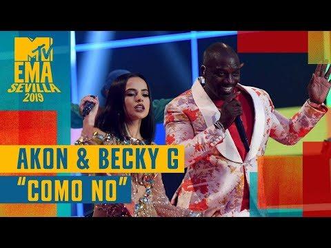 Akon & Becky G – Como No (LIVE) / MTV EMA 2019