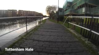 preview picture of video 'Cycle ride along River Lea from Edmonton to Clapton'