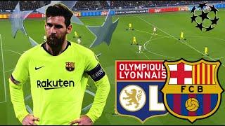 Messi Didn't Save Barca | Lyon-Barcelona Tactical Highlights