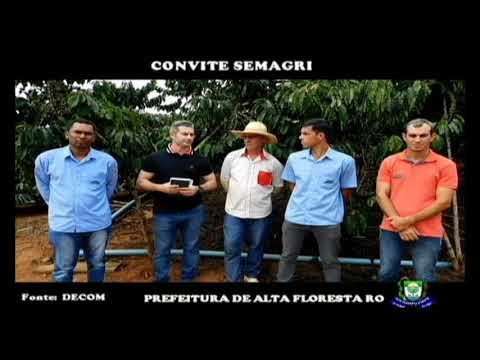 Secretario Municipal de Agricultura  Gilvan Damo , convida os Cafeicultores para evento no dia 10 de Abril de 2019, abertura oficial da colheita do cafe no estado de  Rondônia.