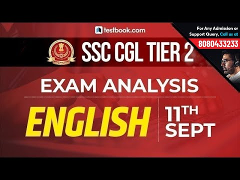 SSC CGL Tier 2 Exam Analysis 2019   SSC CGL Mains 11th September Review   SSC CGL English Questions