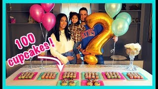 BEST SURPRISE GENDER REVEAL !!! (EATING 100 CUPCAKES) BOY OR GIRL? 👶🏻👧🏻
