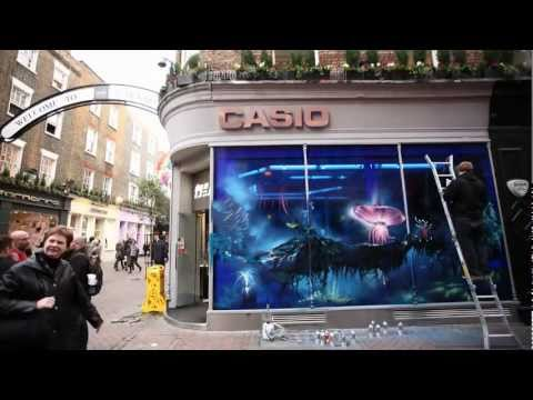 Avatar Graffiti Timelapse | Even James Cameron is in AWE!