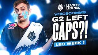 LEC : le « Voicecomms »  de G2 en semaine 1