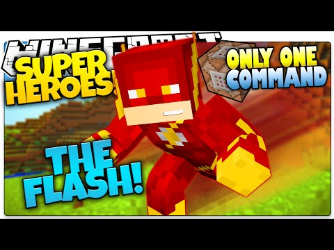 The Flash In Minecraft Custom Command Minecraft Project