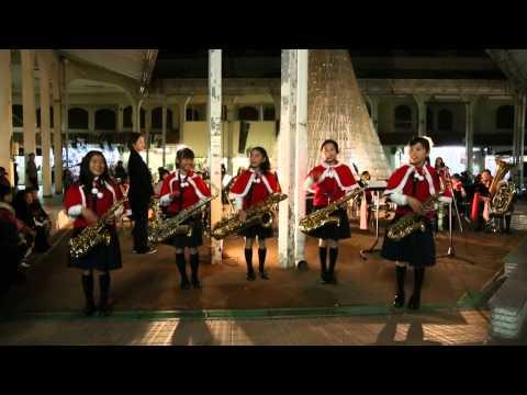2014年 龍野ショッピング ペットボトルツリー点灯式×龍野小学校吹奏楽部