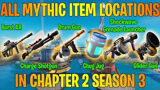 How to get ALL 6 Mythic Items in Chapter 2 Season 3 of Fortnite!