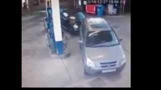 Lady Can't Find Her Gas Tank with Benny Hill Theme Song
