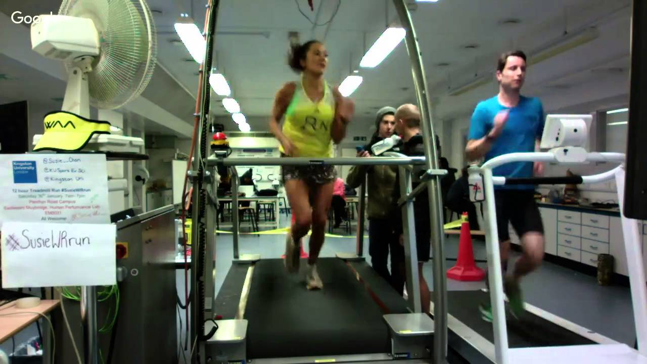 12 hour treadmill world record at Kingston Uni