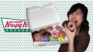 TRYING ALL KRISPY KREME DONUT FLAVOURS!