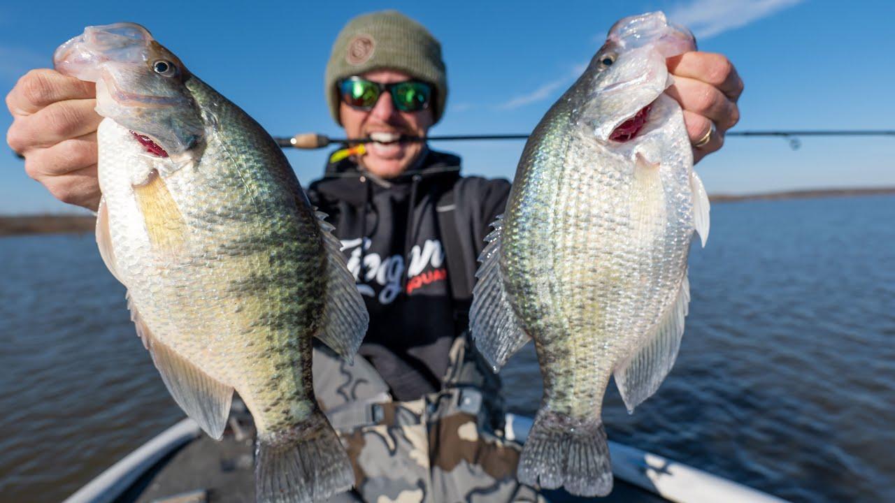 FISHING BIG MUDDY WATER CRAPPIE with JIGS