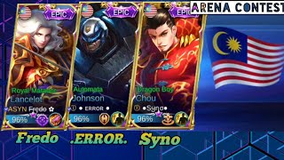 Fredo Syno and .Error. playing together   Arena Contest Malaysia vs Cambodia
